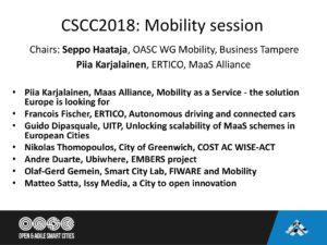 CSCC2018_Mobility intro - Open & Agile Smart Cities