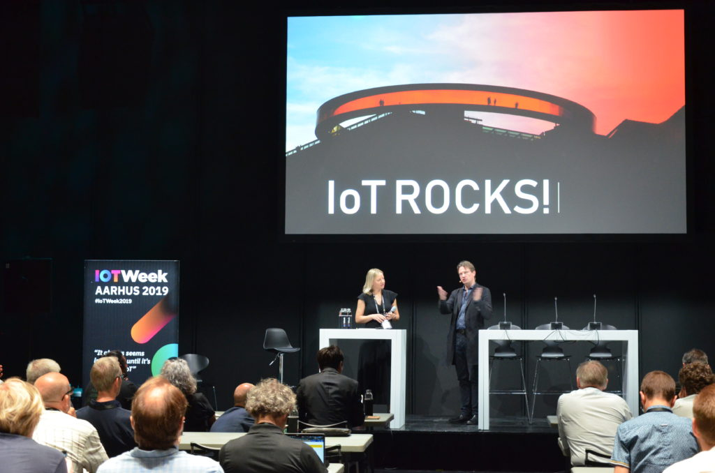 Line Gerstrand, City of Aarhus and Martin Brynskov at IoT Week 2019