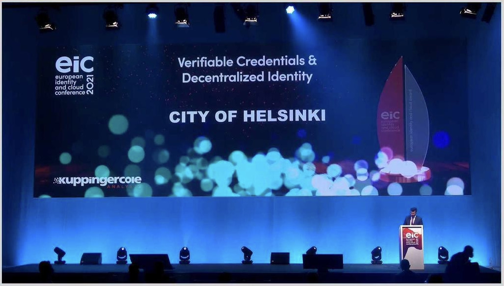 OASC Personal Data Champion City of Helsinki  and Partner Vastuu Group and win European Identity & Cloud Award 2021